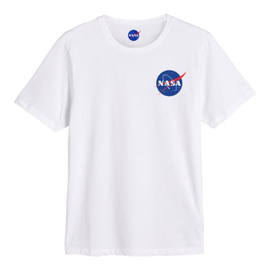 NASA Meatball logo chest print T-shirt