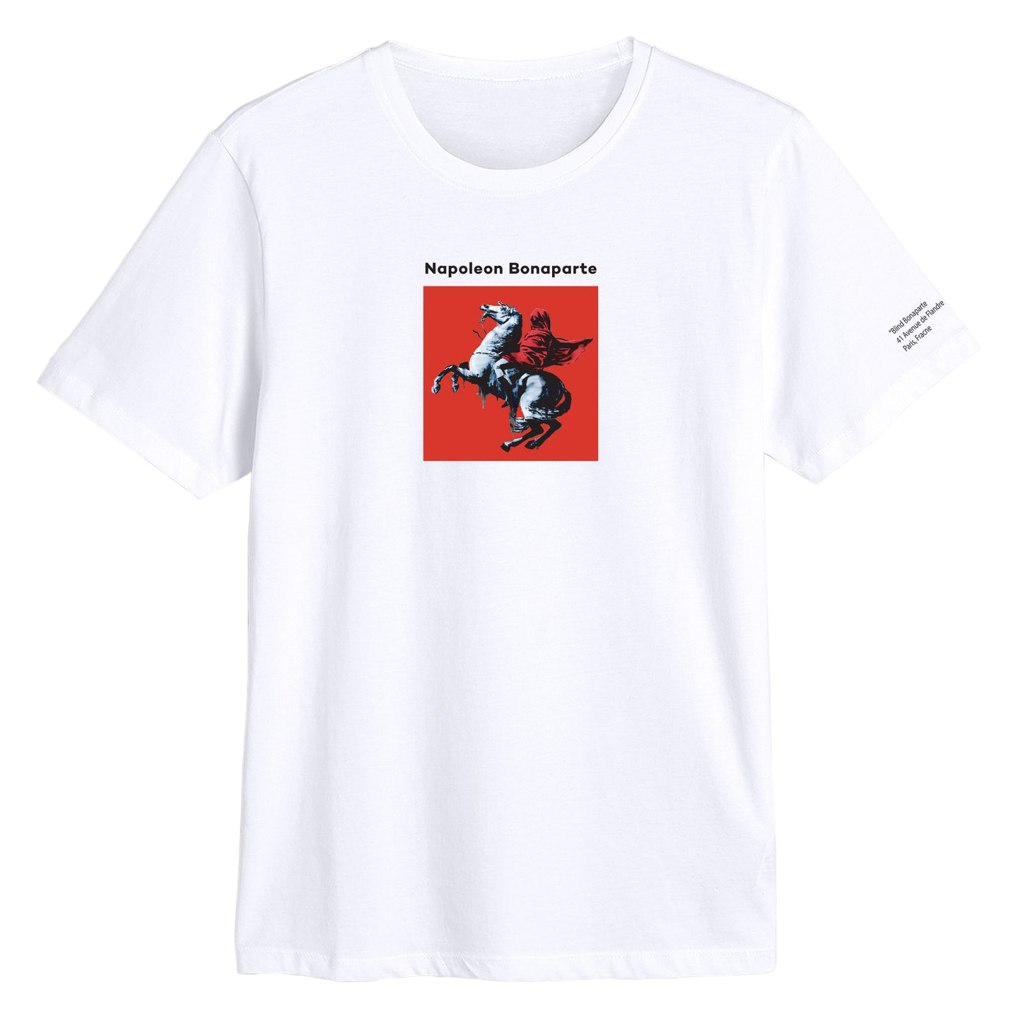 Art By Banksy Napoleon Bonaparte  White T-shirt