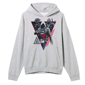 Assassins Creed Characters Grey Hoodie