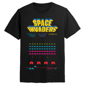 Space Invaders Retro Game Black T-shirt