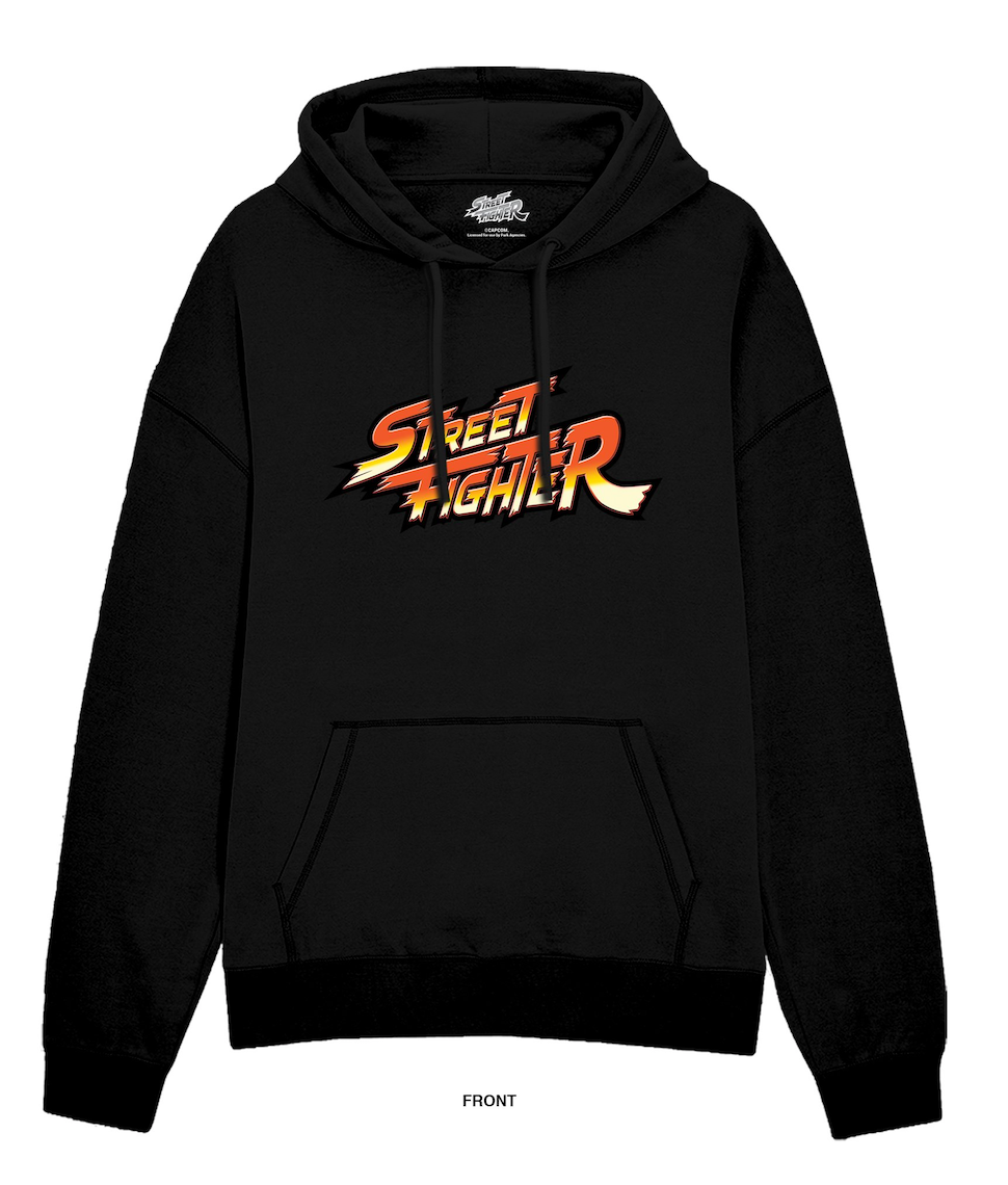 Street Fighter Grid Black Hoodie