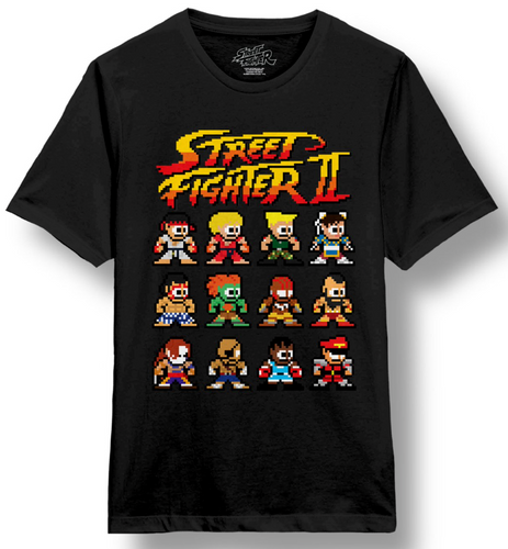 Street Fighter Pixelated Character T-shirt