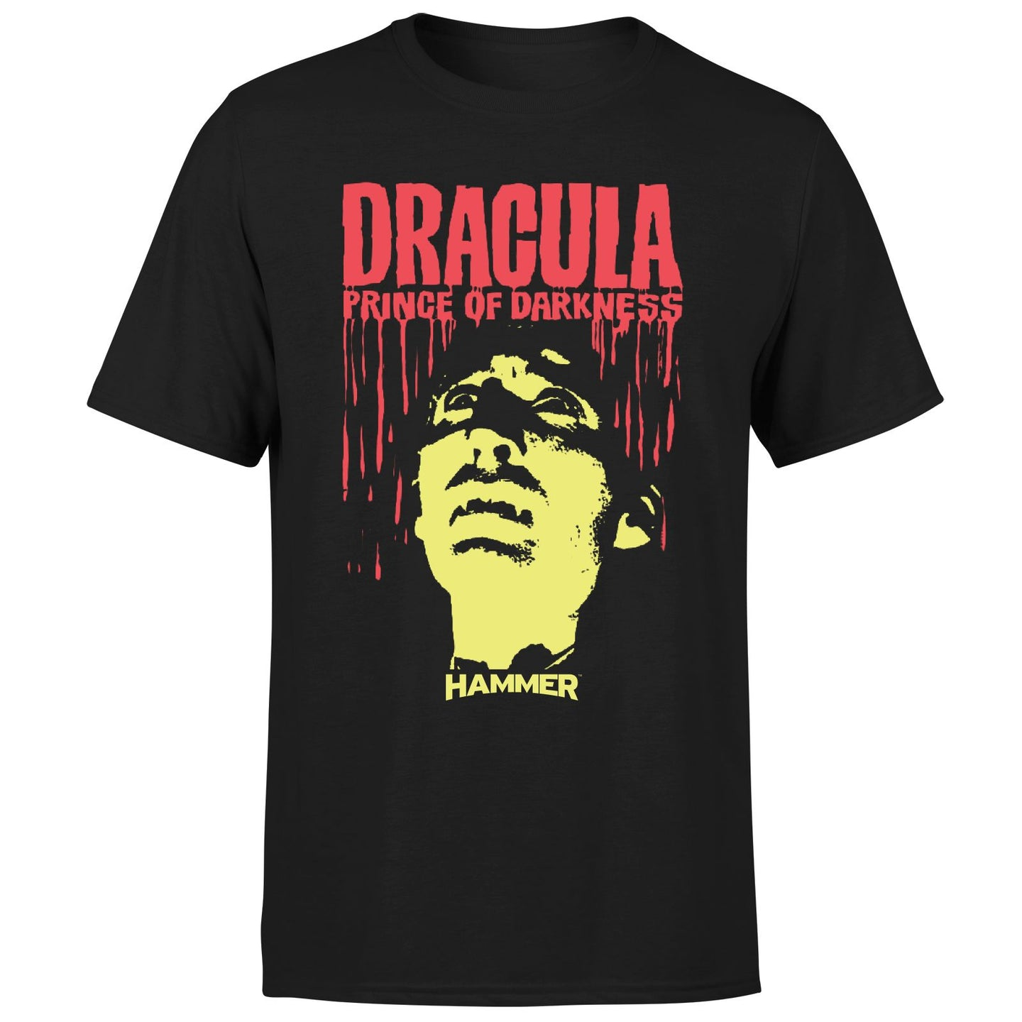 Dracula Prince Of darkness dripping logo Black tee