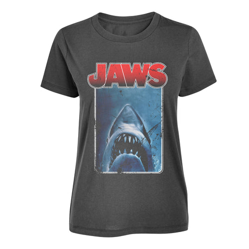 Jaws Border Womens Black Tee