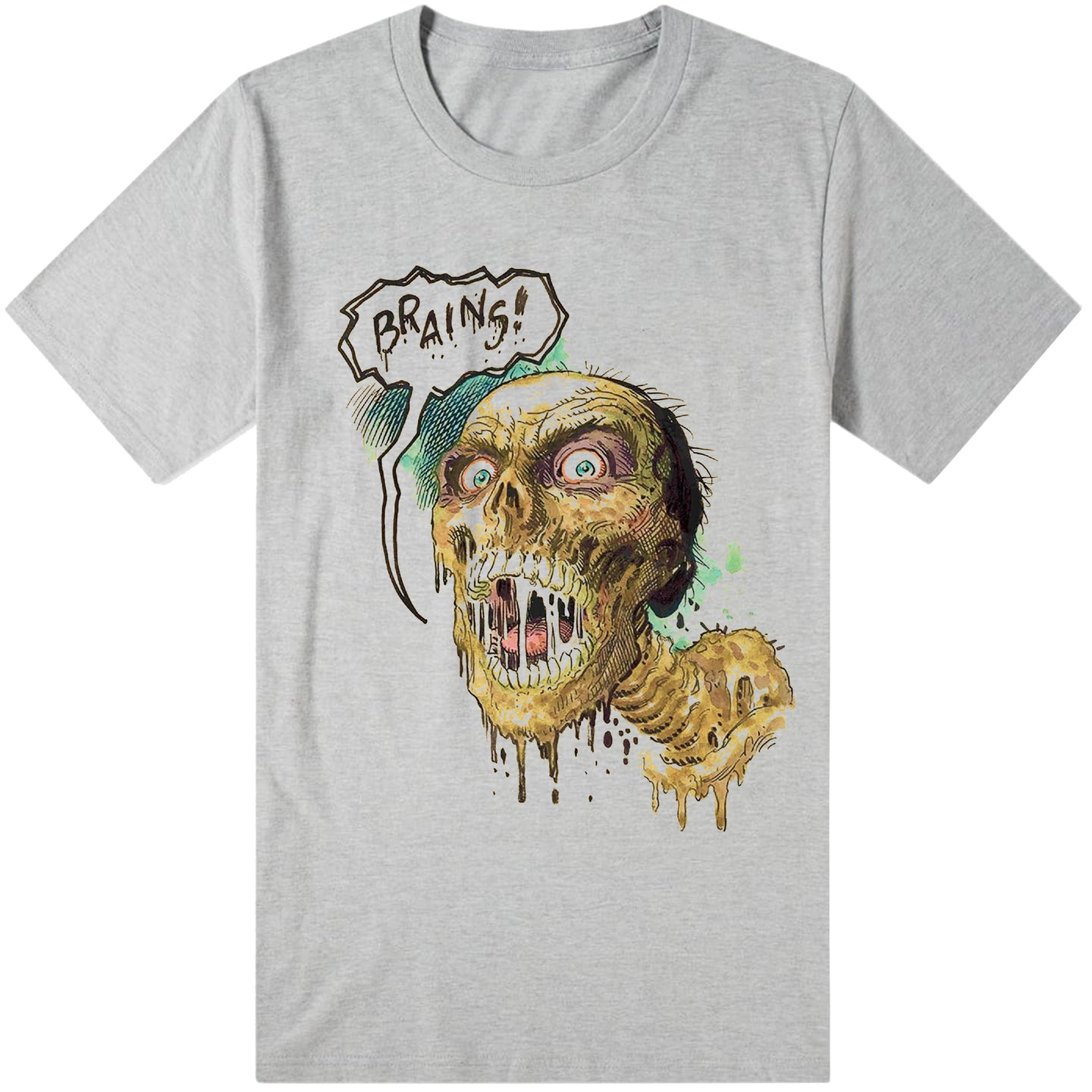 Hammer horror Brains grey Tee