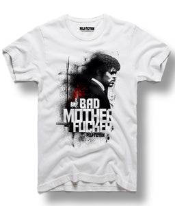 Bad Mother F White Tee
