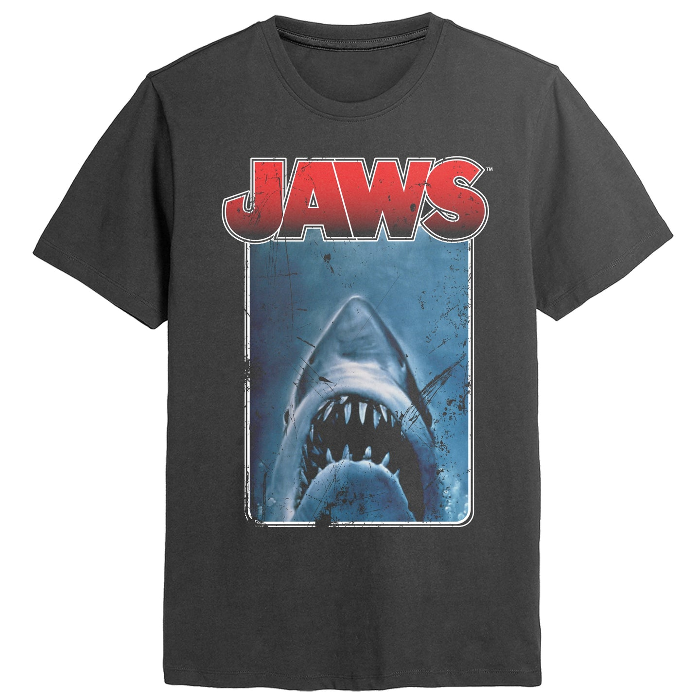 Jaws Border Black Tee