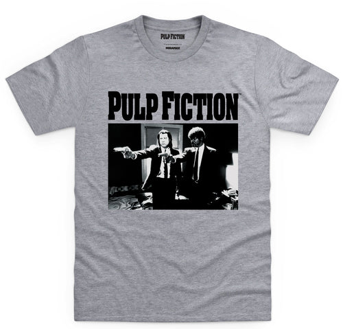 Pulp Fiction Gun Scene Grey Tee