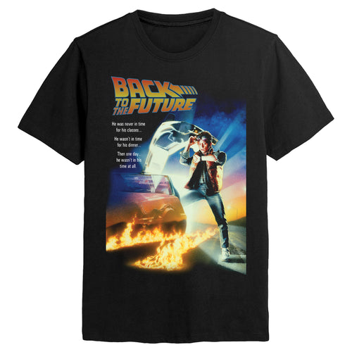 Back To The Future Car Scene Black Tee