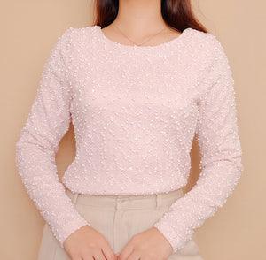 Pastel Pink Textured Pullover