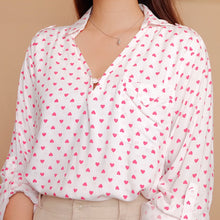 Load image into Gallery viewer, Heart Prints Long Sleeves Blouse