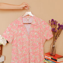 Load image into Gallery viewer, Floral V-Neck Button Down Shirt
