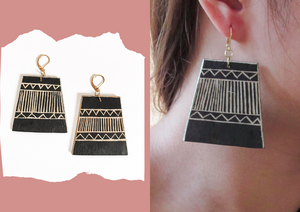 Banig Tboli Wood Earrings