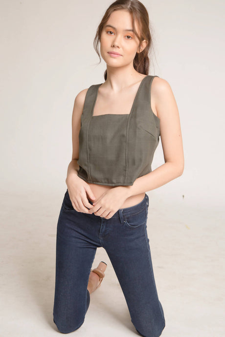 Avery Linen Luxe Top