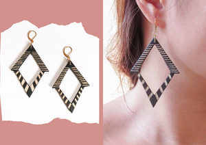 Tala Tboli Wood Earrings