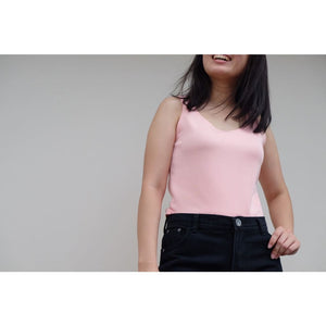 Pink Sleeveless Blouse - Top