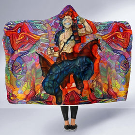Abstract Eijiro Kirishima Hooded Blanket