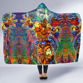 Abstract Goku DBZ Hooded Blanket