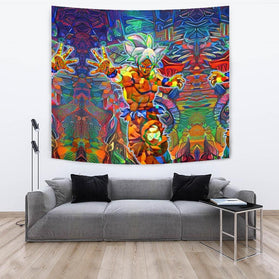 Abstract Goku DBZ Tapestry