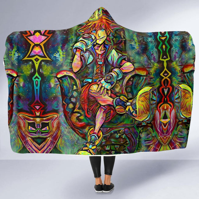 Abstract Sora Kingdom Hearts Hooded Blanket