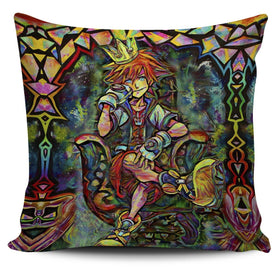 Abstract Sora Kingdom Hearts Pillow Cover