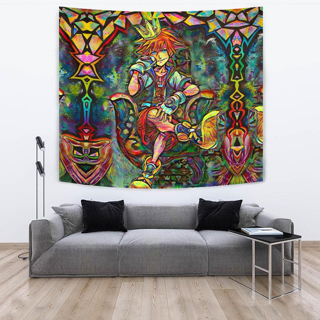 Abstract Sora Kingdom Hearts Tapestry