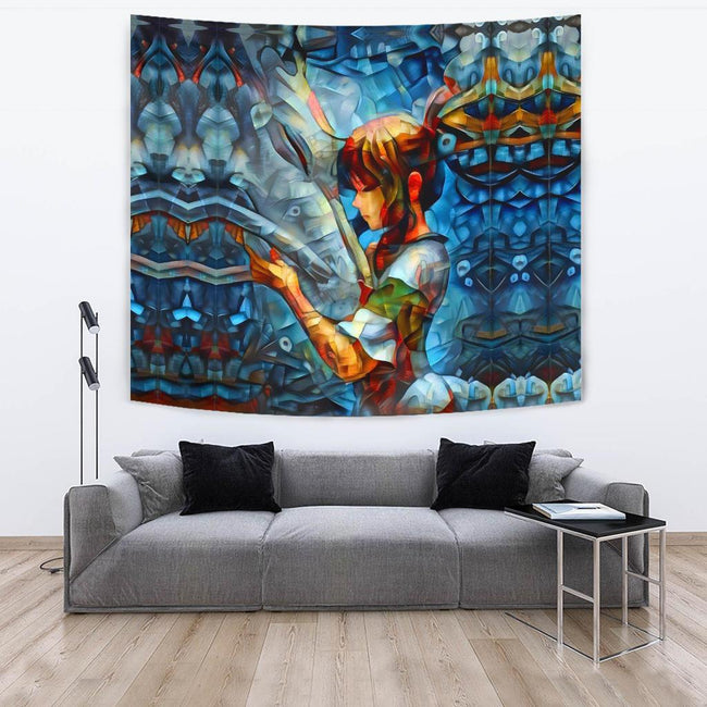 Abstract spirited away Tapestry