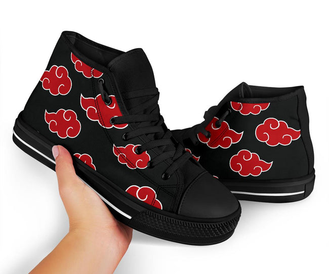 Akatsuki Naruto Custom Canvas Black High Top Shoes