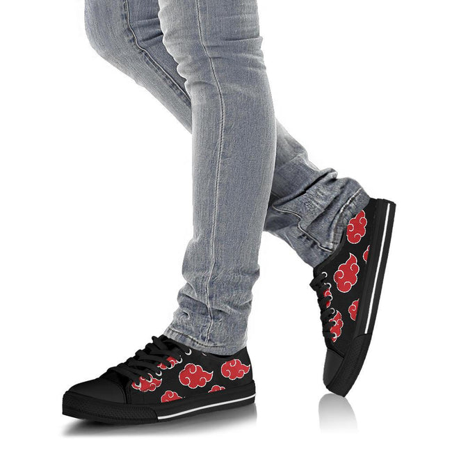 Akatsuki Naruto Custom Low Top Canvas Shoes