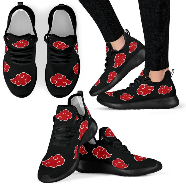 Akatsuki Naruto Custom Mesh Knit Shoes