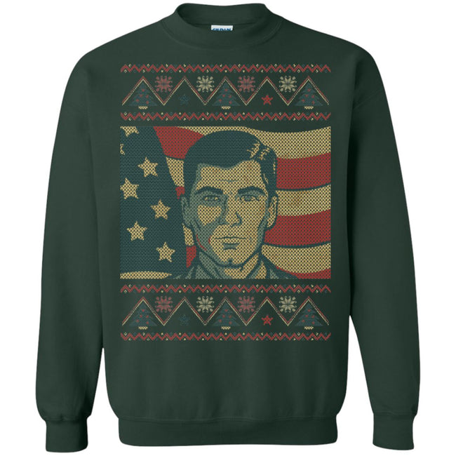 Archer America Ugly Christmas Sweater