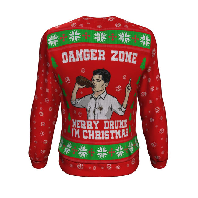 Archer Merry Drunk I'm Christmas 3D Ugly Christmas Sweater