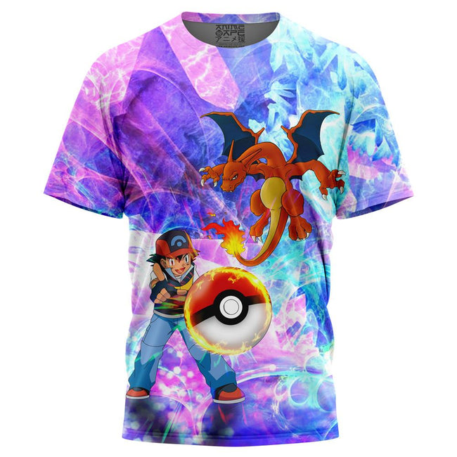 Ash & Charizard Pokemon T-Shirt