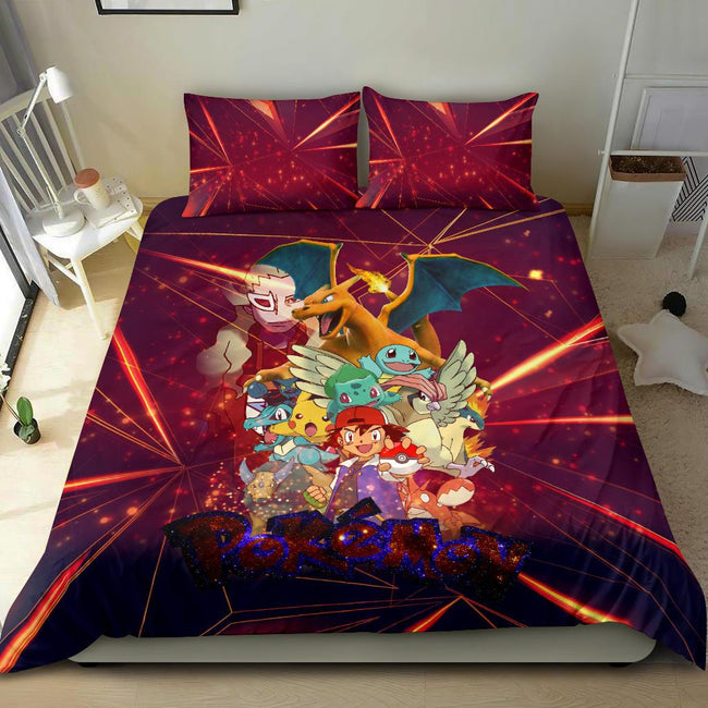 Ash Movie Poster Pokemon Bedding Set
