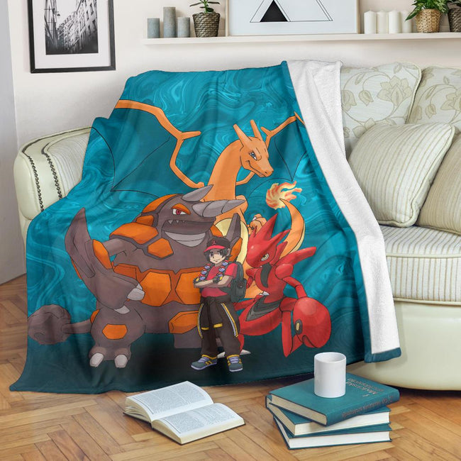 Ash With Pokemons Blanket