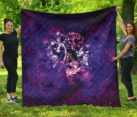 Astral Diamond is Unbreakable Jojo's Bizarre Adventure Premium Quilt Blanket