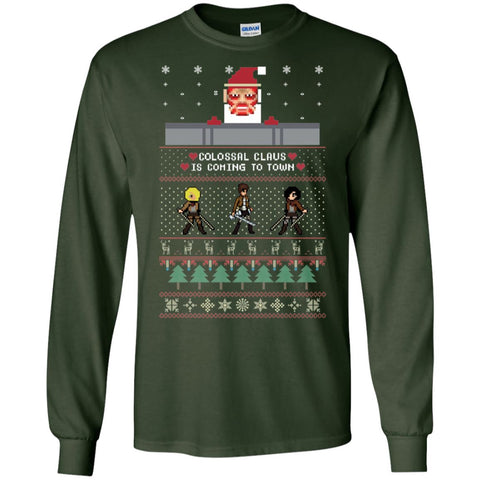 Image of Attack On Titan Santa Ugly Christmas Sweater