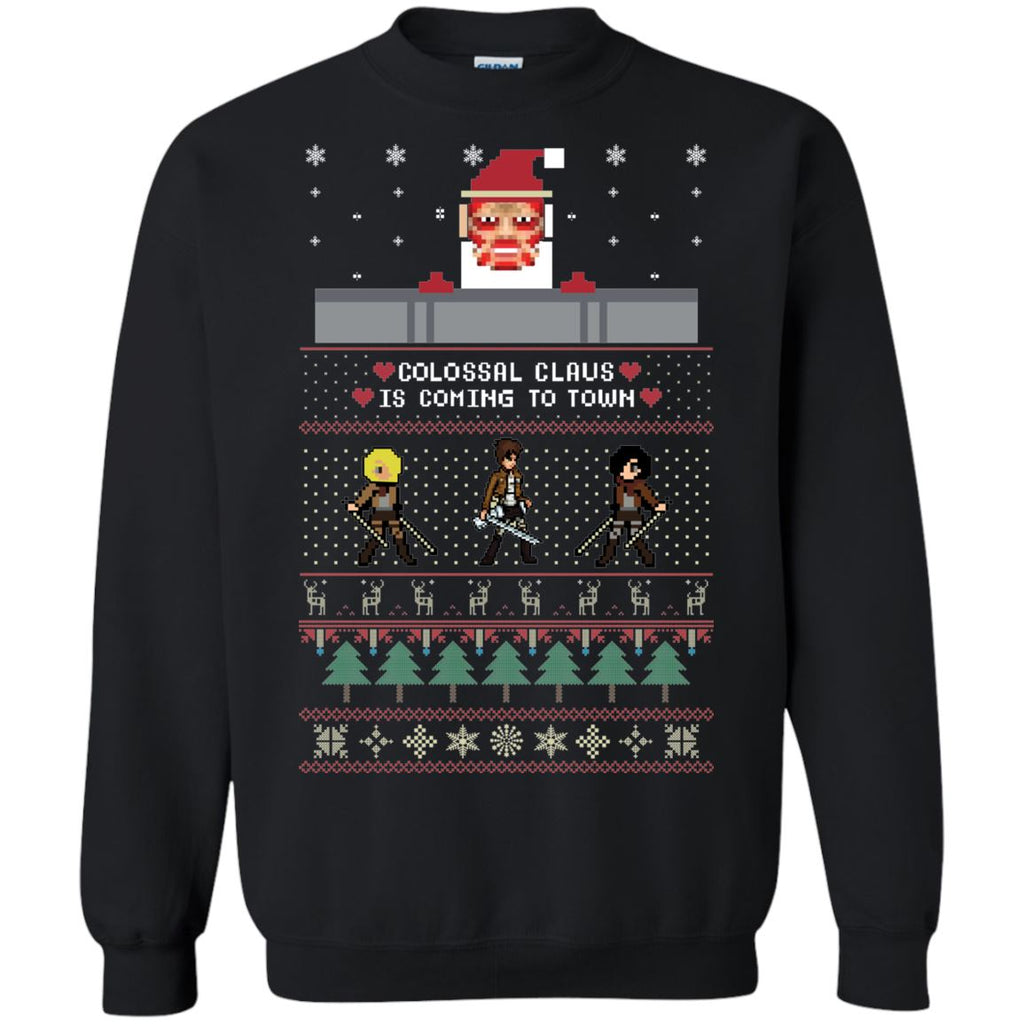 Attack On Titan Santa Ugly Christmas Sweater