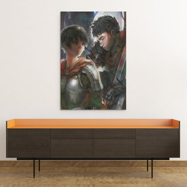 Berserk Guts And Gascu Canvas Wall Art