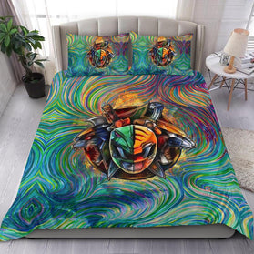 Blazing Green White Tommy Power Rangers Bedding Set