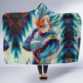 Blazing Vegeta DBZ Hooded Blanket