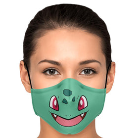 Bulbasaur Pokémon Premium Carbon Filter Face Mask