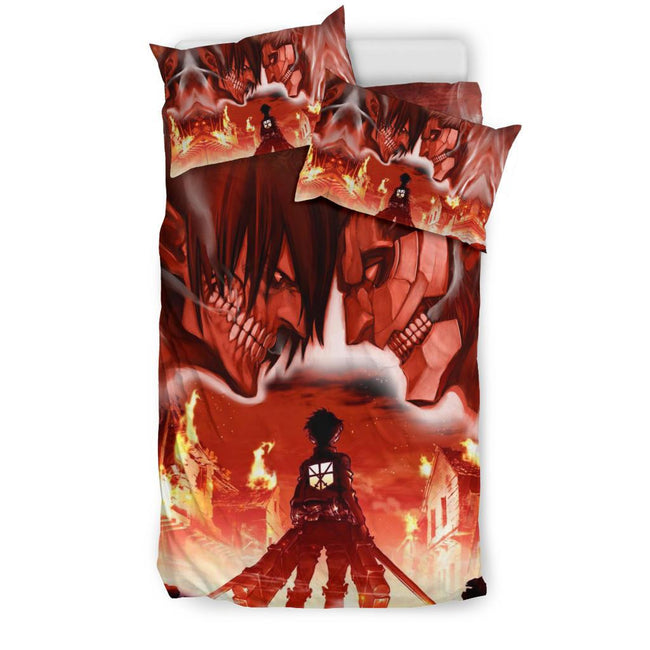 Burning Attack on Titan Bedding Set