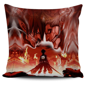 Burning Attack on Titan Pillow Cover