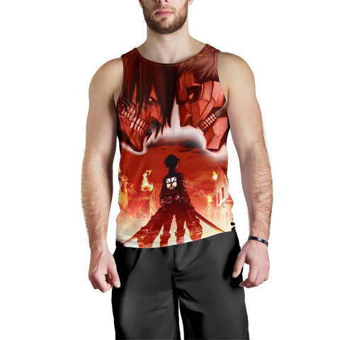 Image of Burning Attack on Titan Premium Tank Top