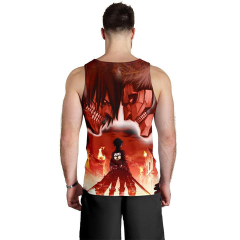 Burning Attack on Titan Premium Tank Top