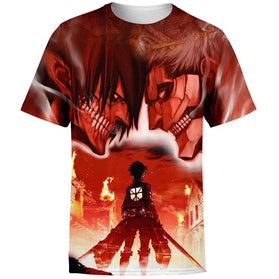 Burning Attack on Titan T-Shirt