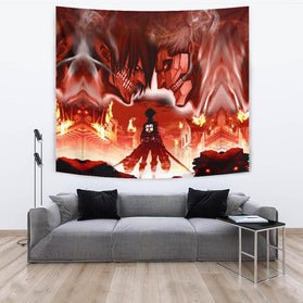 Burning Attack on Titan Tapestry