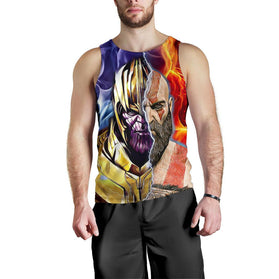 Burning Thanos & Kratos Premium Tank Top