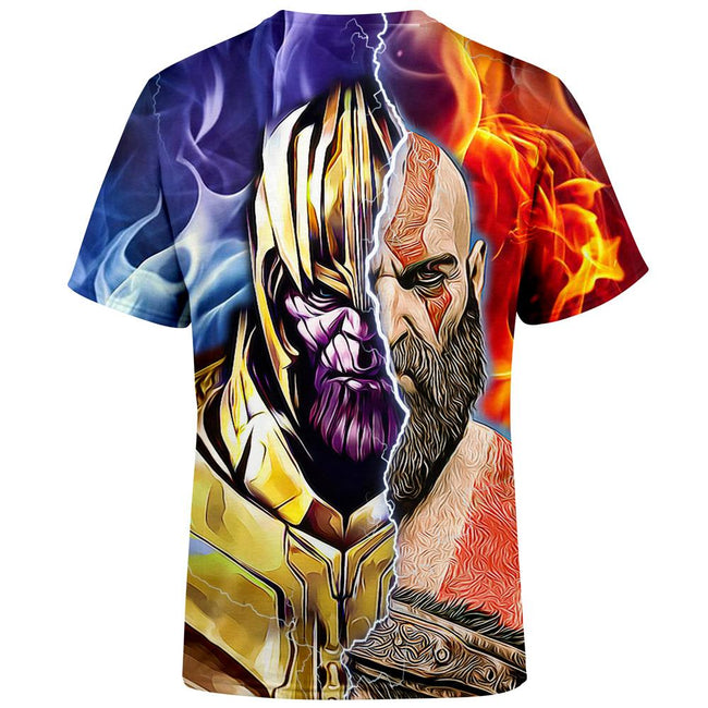 Burning Thanos & Kratos T-Shirt